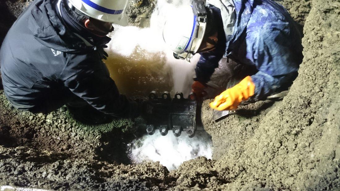 国道緊急漏水修繕工事
